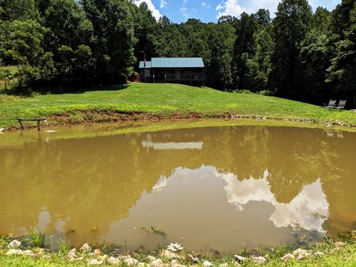Hunting Cabin, Pond, 40 Acres : Galax : Carroll County : Virginia