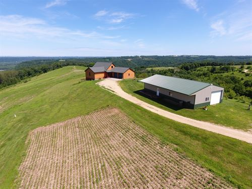 Home + Acreage With River Views : Eastman : Crawford County : Wisconsin