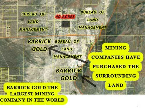 Nevada Ranch Minerals Included : Crescent Valley : Eureka County : Nevada
