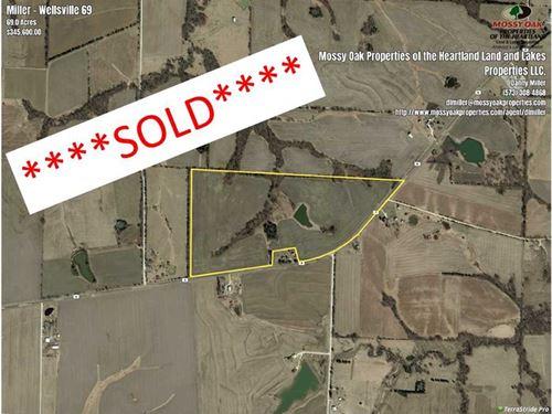 Row Crop 69 Acres in Montgomery CO : Wellsville : Montgomery County : Missouri