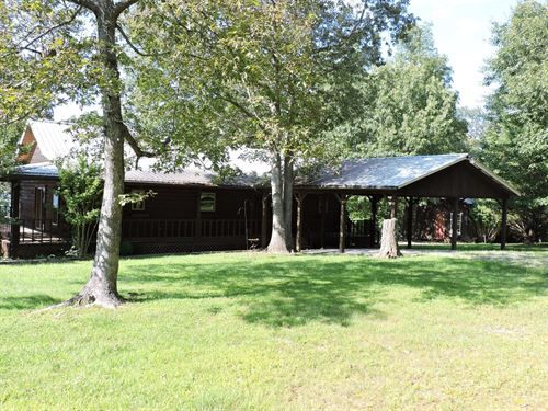 Mountaintop Log Cabin Home Acreage : Jasper : Newton County : Arkansas