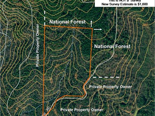 Land Bordering The Ozark Nat Forest : Clarksville : Johnson County : Arkansas