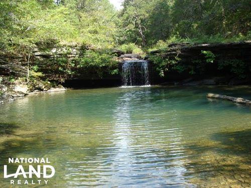 160 Acre Ozark Mountain Waterfall : Leslie : Stone County : Arkansas