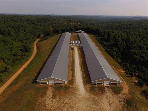 Class A Broiler Farm, 2 Homes : Lineville : Randolph County : Alabama