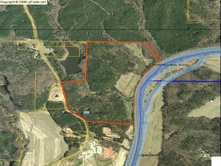 144.382 Ac On Chattahoochee River : Whitesburg : Carroll County : Georgia