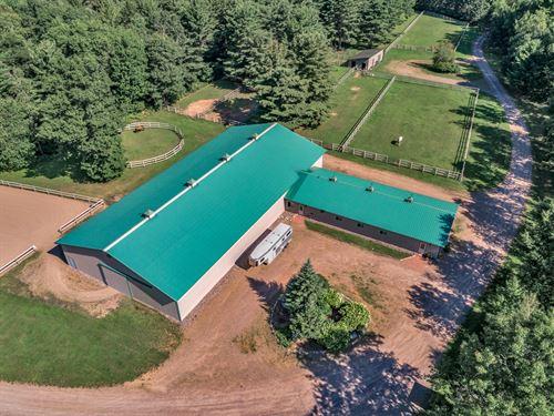 179951, High Quality Horse Farm : Hazelhurst : Oneida County : Wisconsin