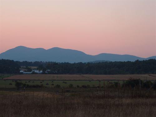 Beautiful Farm With Mountain Views : Westport : Essex County : New York