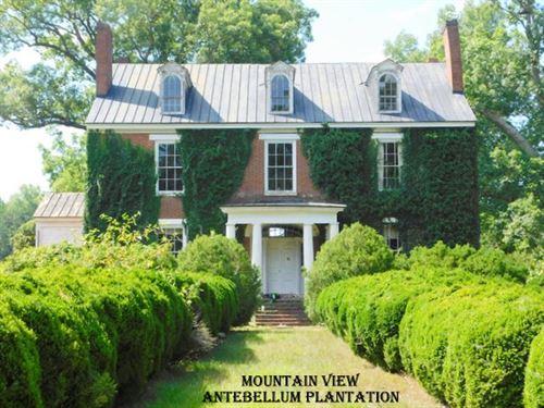 Mountain View Plantation : Chatham : Pittsylvania County : Virginia