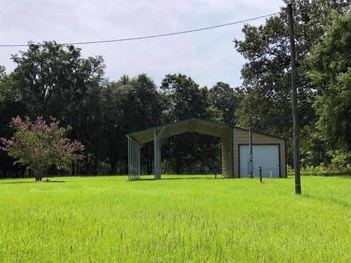 5 Ac Close To Suwannee River State : Live Oak : Suwannee County : Florida