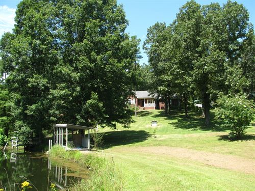 Country Home Acreage Tn, 2 Ponds : Clifton : Wayne County : Tennessee