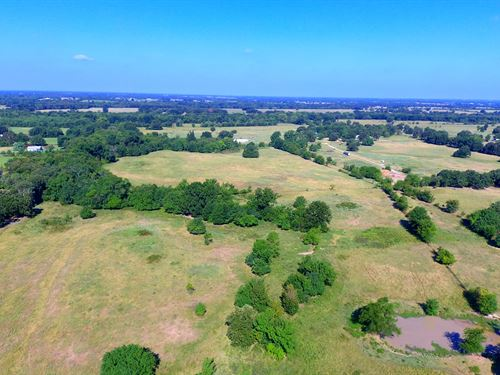 Large Country Ranch Land Acreage : Pattonville : Lamar County : Texas
