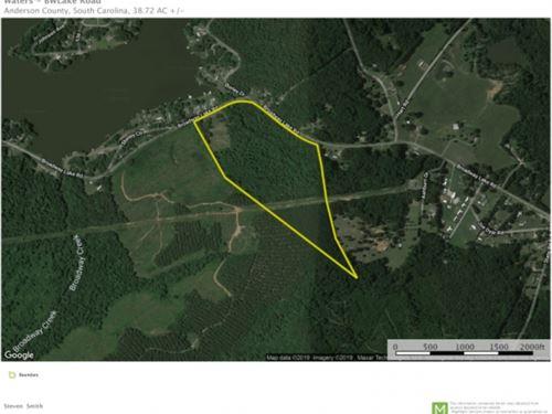 38.72 Acre Lake View Property : Anderson : South Carolina