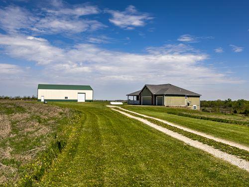 Pasture, Crop Land, Ponds On 157 Ac : Burlingame : Osage County : Kansas