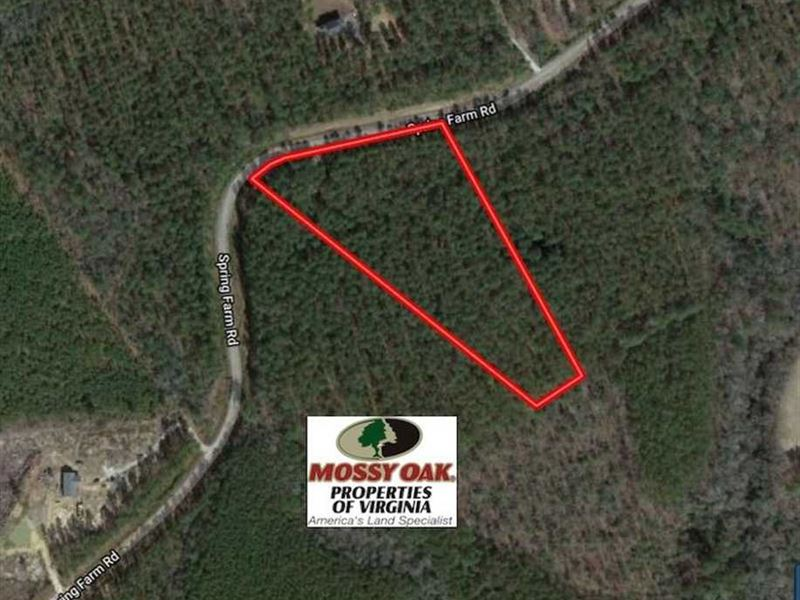 Under Contract, 6 Acres of Hunti : Dendron : Surry County : Virginia