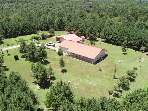 Beautiful Leesburg Farm With Home : Leesburg : Camp County : Texas