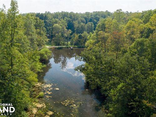 Wooded Acreage And Pond in Western : Salisbury : Rowan County : North Carolina
