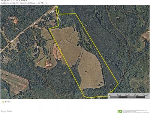 145 Acres, Rare Development Oppo : Pendleton : Anderson County : South Carolina