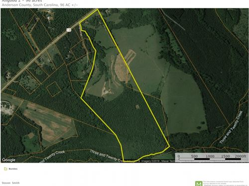96 Acres, Rare Development Oppor : Pendleton : Anderson County : South Carolina