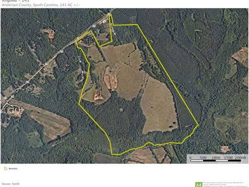 241 Acres, Rare Development Oppo : Pendleton : Anderson County : South Carolina