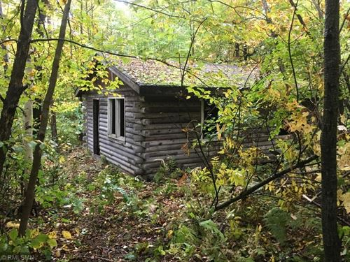 Heavily Wooded Acreage Log Cabin : Hinckley : Pine County : Minnesota