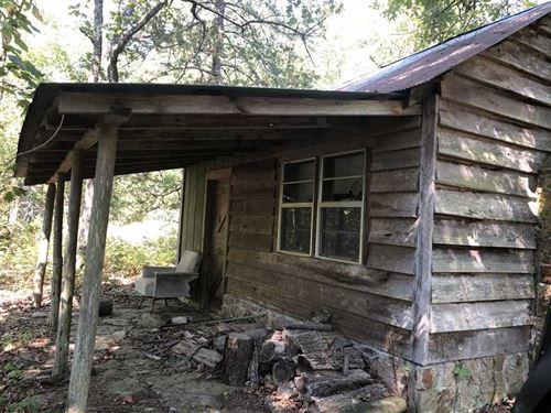 5 Acres With Hunting Cabin : Leslie : Van Buren County : Arkansas
