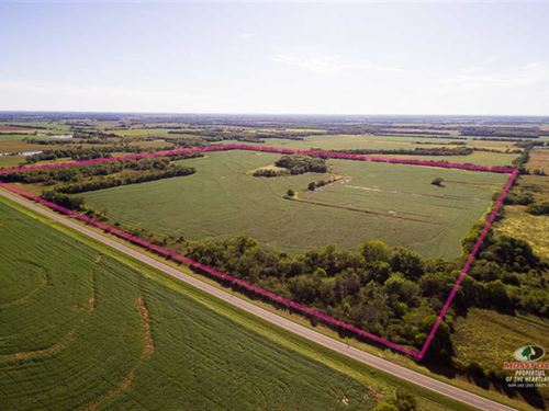 160 Acres to Harvest And Hunt : Elsmore : Allen County : Kansas