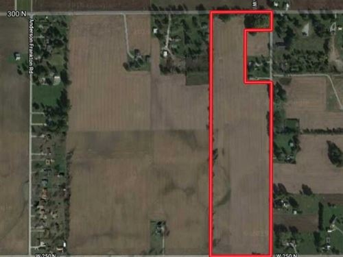 Land For Sale, 36 Acres of Tillab : Frankton : Madison County : Indiana