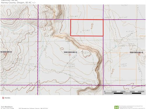 80 Acres Adjacent To Blm : Burns : Harney County : Oregon