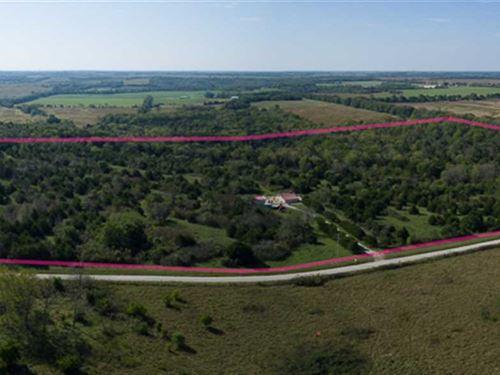 61 Acre High Fence Coyote Pen : Kincaid : Anderson County : Kansas