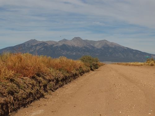 5.23 Acre At The Foot Of Mt, Blanca : Blanca : Costilla County : Colorado