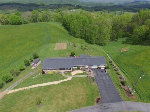 73 Acre Farm Large Home Marion, VA : Marion : Smyth County : Virginia