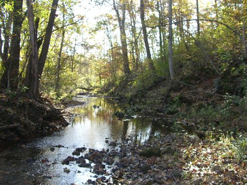 56 Acres Prime Ozarks Hunting : Patterson : Wayne County : Missouri