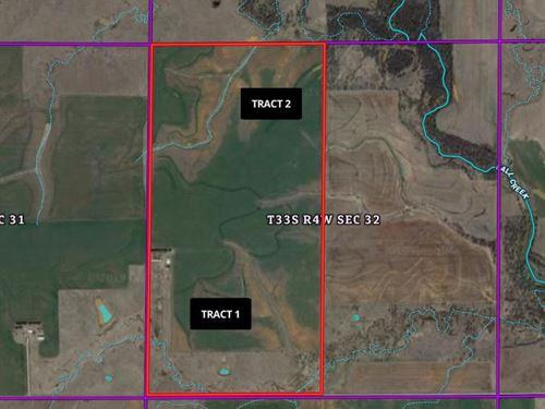 590 Acres Grassland & Cropland : Bluff City : Harper County : Kansas