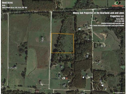 Rural Rolla 6.2 Acre Build Site : Rolla : Phelps County : Missouri