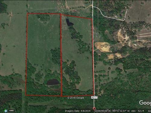 Prize Rural Acreage Pond East TX : Frankston : Henderson County : Texas