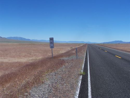 Views, Paved Frontage, $285/M : Mill City : Pershing County : Nevada