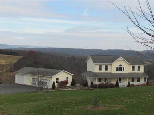 16 +/- Acres, Home With Views : Benton : Columbia County : Pennsylvania