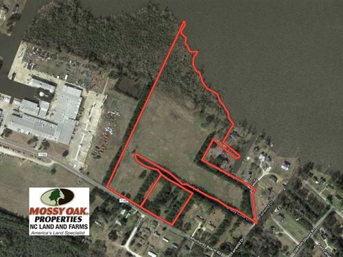 27 Acres of Waterfront Residential : Chocowinity : Beaufort County : North Carolina
