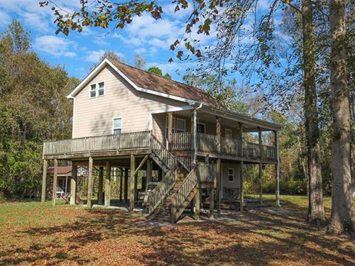 65 Acres of Hunting Land With Home : Belhaven : Hyde County : North Carolina