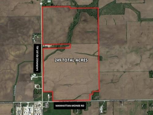 249 Ac Lagrange Rd Farm : Monee : Will County : Illinois