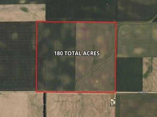 180 Ac Edgar Co, Farm : Chrisman : Edgar County : Illinois