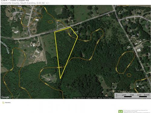 6.63 Acres Near Greer, SC : Greer : Greenville County : South Carolina
