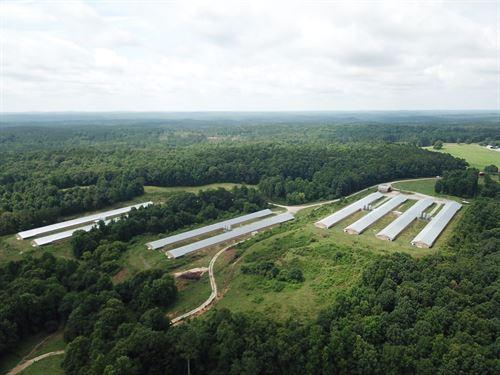 Oliver Farm, 8 House Broiler Farm : Daviston : Tallapoosa County : Alabama