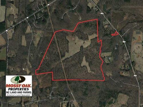 253 Acres of Farm And Timber Land : Rougemont : Orange County : North Carolina