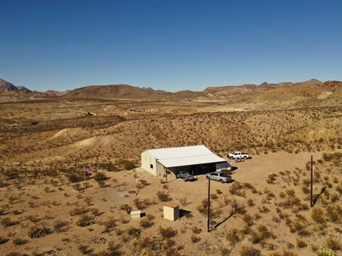 40 Acres With Shop/Apartment : Terlingua : Brewster County : Texas