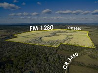 1381 Acres Lost Creek Ranch : Lovelady : Houston County : Texas