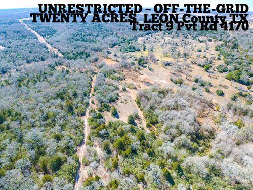 20.07 Acres in Leon County : Marquez : Leon County : Texas
