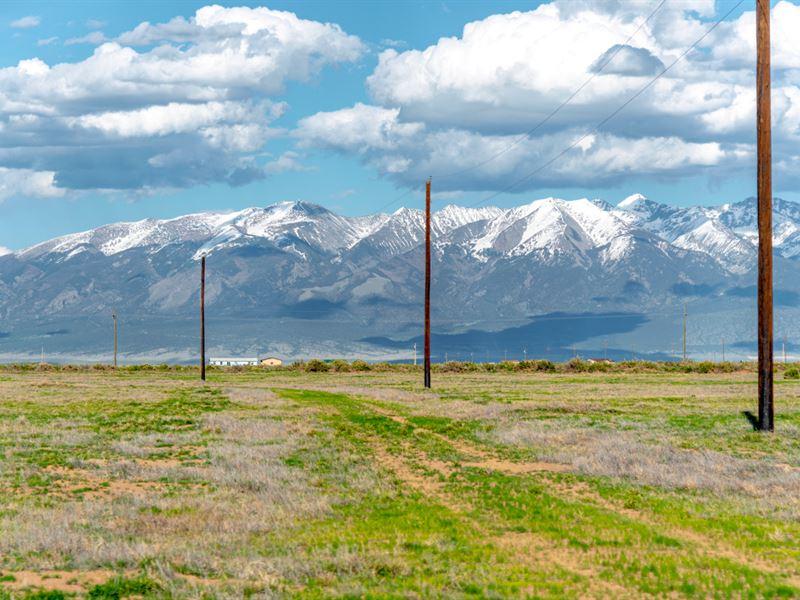Lot w Electricity & Mountain Views : Alamosa : Alamosa County : Colorado