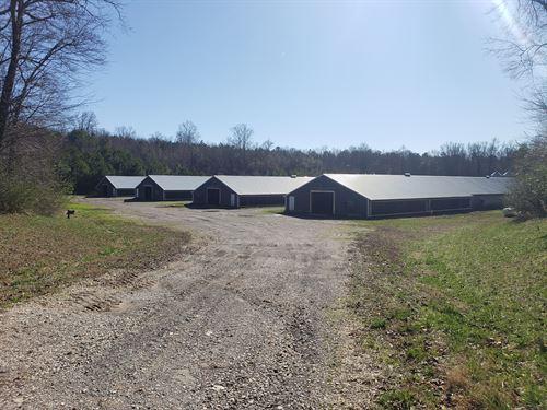 Older 6 House Poultry Broiler Farm : Jasper : Pickens County : Georgia