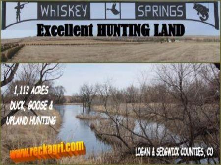 Whiskey Springs Hunting Land : Julesburg : Sedgwick County : Colorado